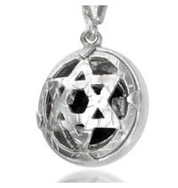 Five Metals Star of David Pendant