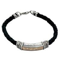 Leather Shema Yisrael Bracelet