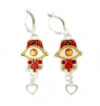 Oriental Hamsa Earrings