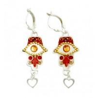 Oriental Hamsa Earrings