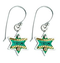 Happiness Star of David Earrings with Swarovsky Crystals