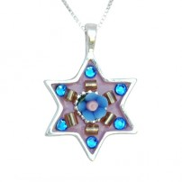 Star of David Necklace with Swarovski Crystals