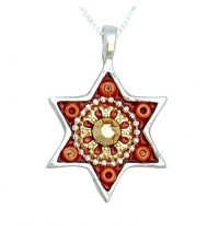 Swarovski Crystals Oriental Star of David Necklace