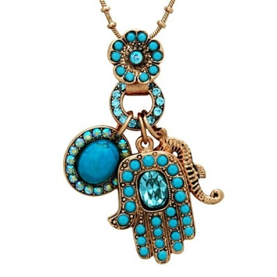 Oriental Hamsa Necklace by Amaro