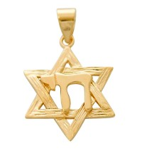 Chai Star of David Pendant