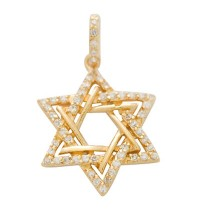 Double Star of David Pendant