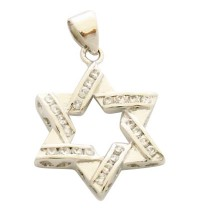 Gold Filled Cubic Zirconium Star of David Pendant