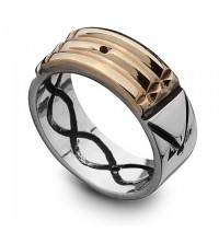Atlantis Ring for Protection 18K Gold & 950 Silver