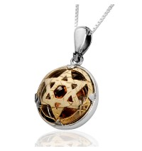 5 Metals Star of David Pendant