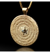 Gold Kabbalah Pendant - 72 Names Of God