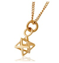 Gold Merchaba Kabbalah Necklace