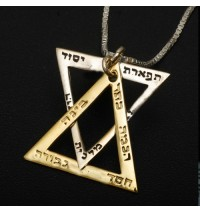 The Ten Sefirot Star of David Necklace
