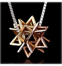 Gold Kabbalah Merkabah Necklace