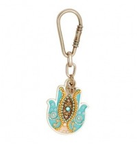 Light Blue Hamsa Hand Key Chain