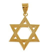 Classic Star of David Pendant - Gold Filled