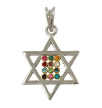 Gold Filled Star of David Hoshen Necklace