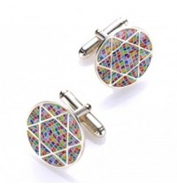 Star of David Cufflinks - Multicolor