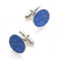 Silver Cufflinks - Blue